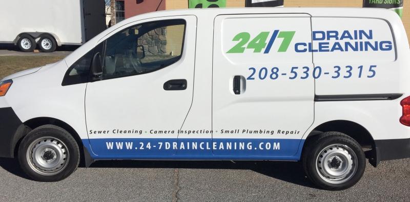 24/7 Drain Cleaning Transit Van Wrap