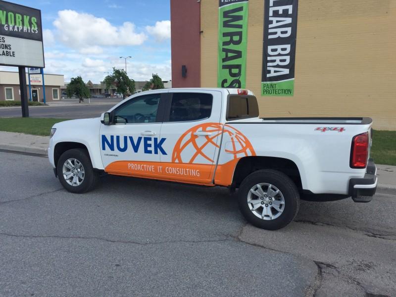 Nuvek Truck Wrap
