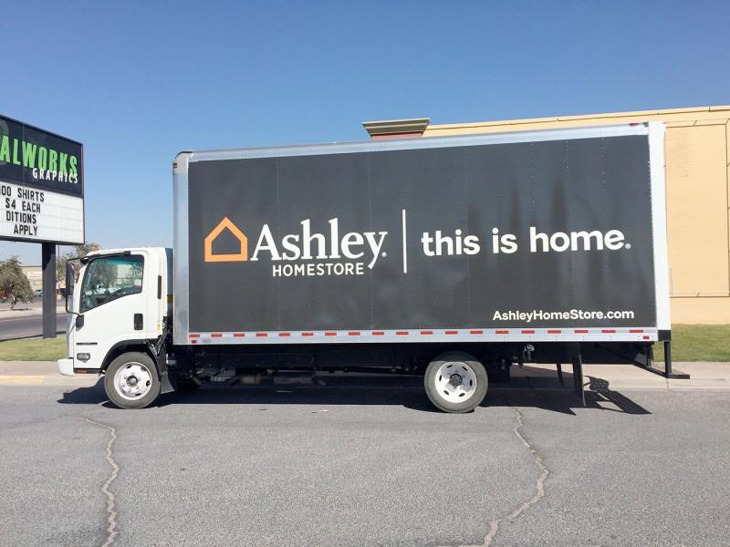 Ashley Homestore Box Truck Wrap